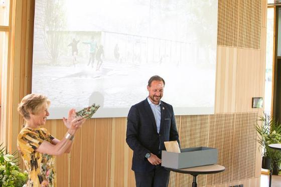 Crown Prince Haakon formally declared the Climate House open.