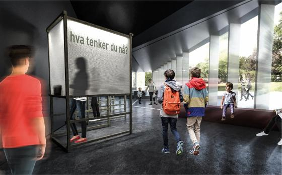 "Vinnerprosjektet – ""MØNSTRE I BEVEGELSE"": Lund Hagem Arkitekter AS, Atelier Oslo AS, Expology AS, Bollinger+Grohmann Ingeniører AS, Transsolar Energietechnik GmbH, ATSITE og TAMSCHICK Media+Space"