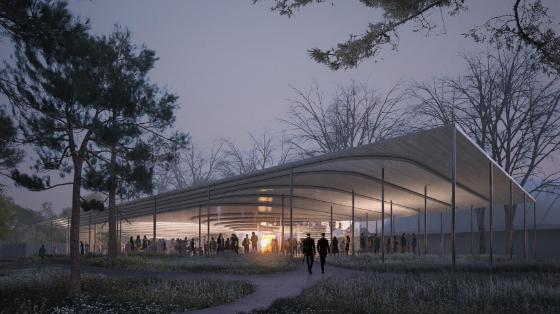 "Finalist – ""KLIMATORIUMET"": COBE ApS, Kossman.Dejong exhibition architects og Buro Happold Engineering"