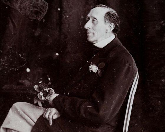 Fotografi av eventyrdikteren H C Andersen tatt ca 18760